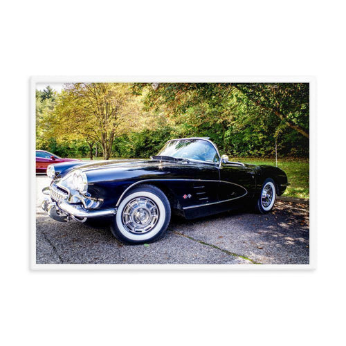 Good Old Corvette Classic Framed Art Print - Artouchmedia