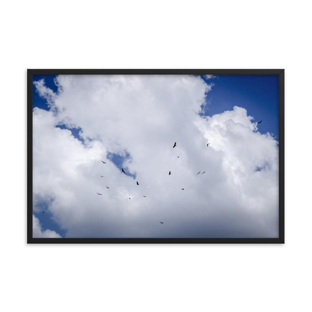 Birds In The Sky Framed Art Print - Artouchmedia