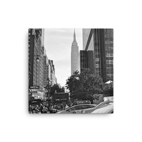 8 Avenue Rush Hour Canvas Art Print - Artouchmedia