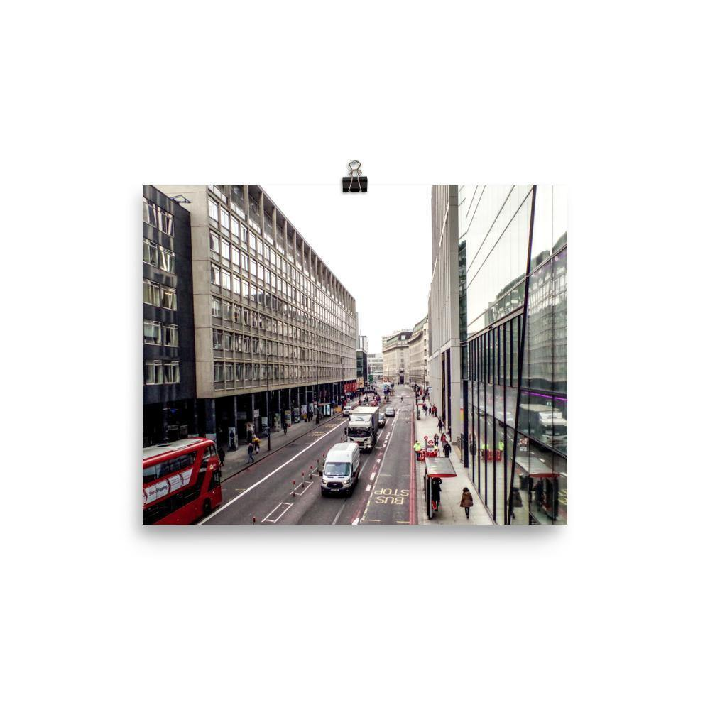 London Street In Motion Luster Art Print - Artouchmedia