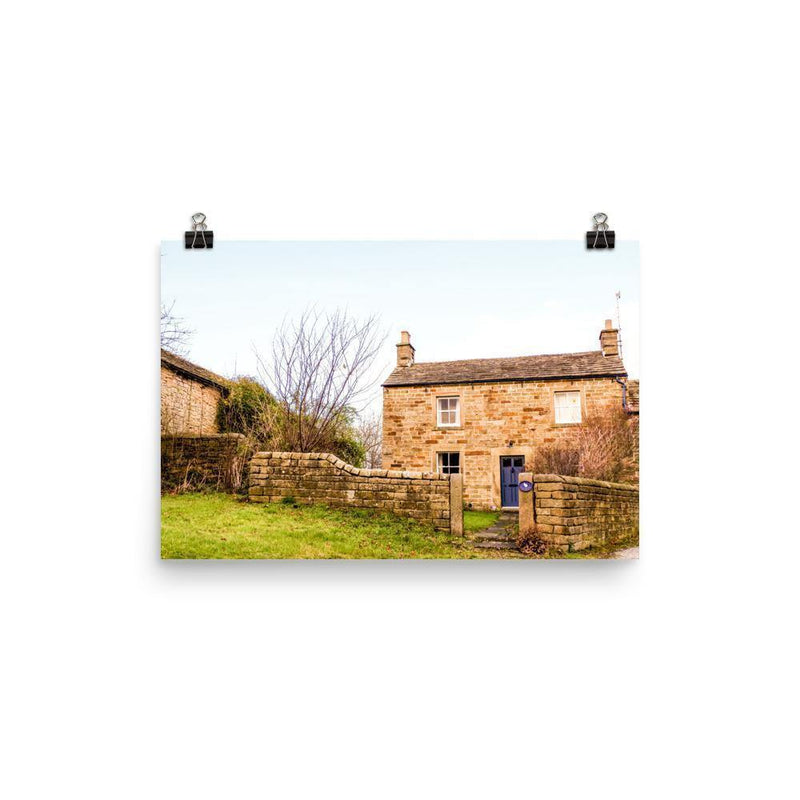 Village House Somewhere In Peak District Luster Art Print - Artouchmedia