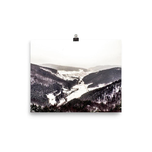 Light Snowing In The Valley Luster Art Print - Artouchmedia