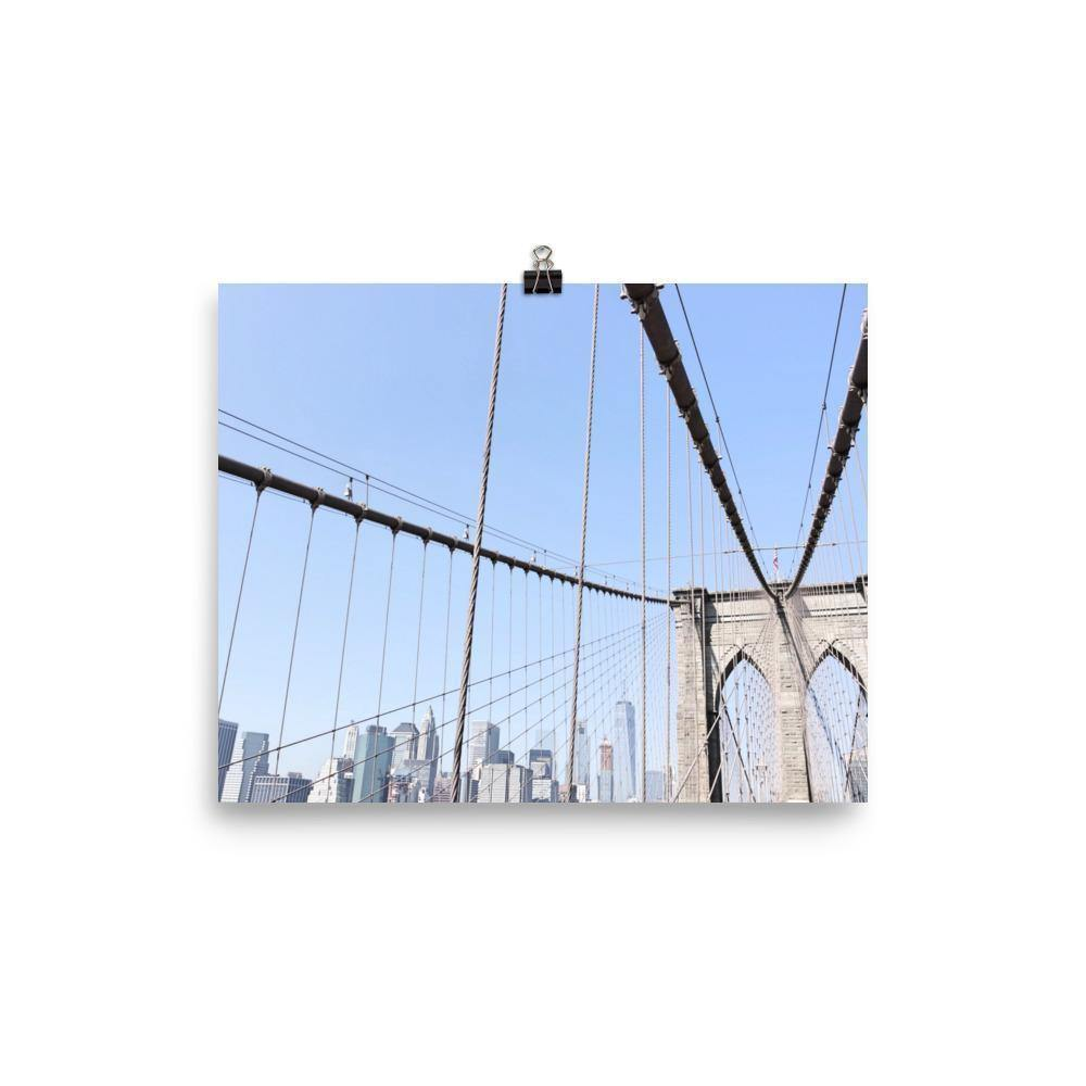 Brooklyn Bridge From The Start Luster Art Print - Artouchmedia