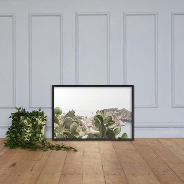 Cactus is First Framed Poster - Artouchmedia