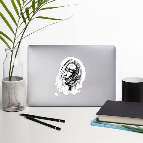 Dreaming Lady Laptop Stickers - Artouchmedia
