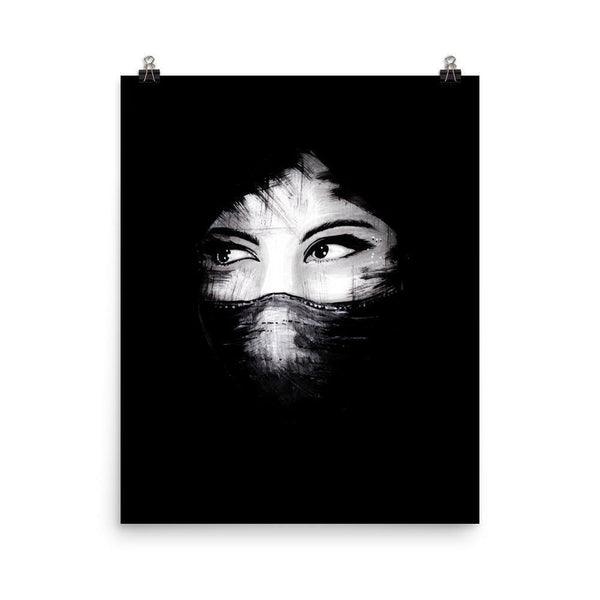 Eyes In The Dark Lustre Art Print - Artouchmedia