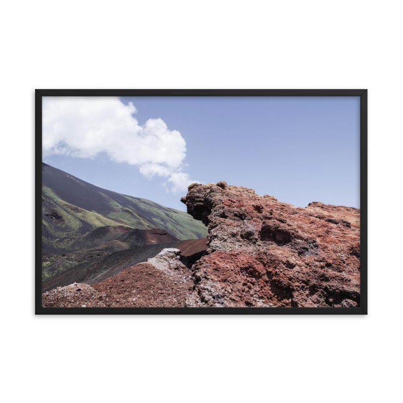 Etna Volcano is Alive Framed Poster - Artouchmedia
