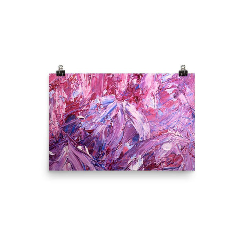 Purple Slash Lustre Art Print - Artouchmedia