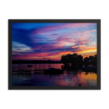 Deep Purple And Blue Framed Art Print - Artouchmedia