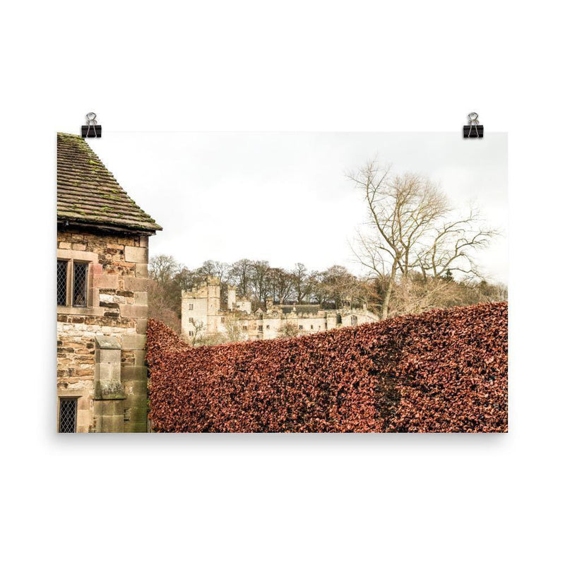 Castle Behind The Red Fence Luster Art Print - Artouchmedia