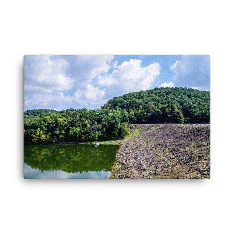 Forest Between Earth Lake And Sky Canvas Art Print - Artouchmedia