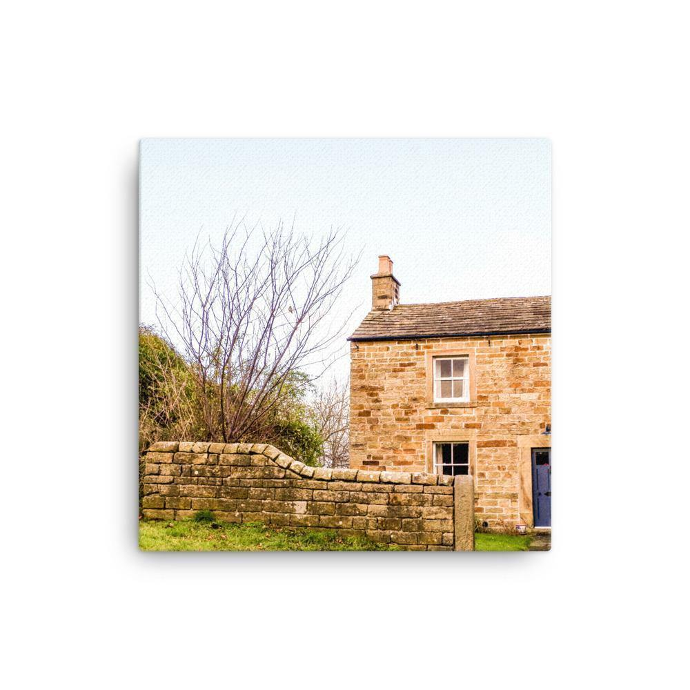 Village House Somewhere In Peak District Canvas Art Print - Artouchmedia