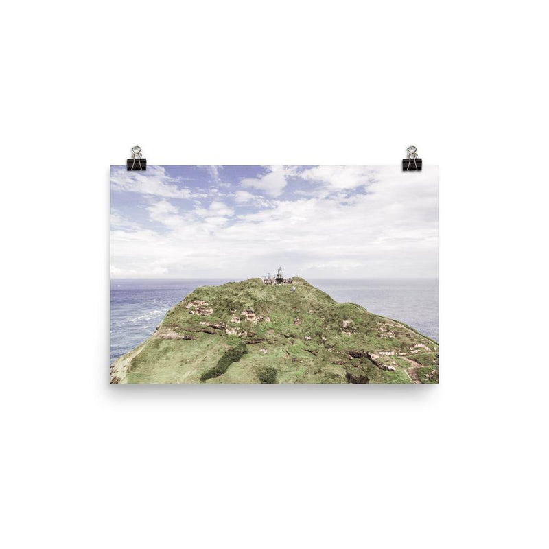 Green Mountain Blue Sky Lustre Art Print - Artouchmedia