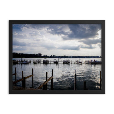 Blue Sunset In The Buckeye Docks Framed Art Print - Artouchmedia