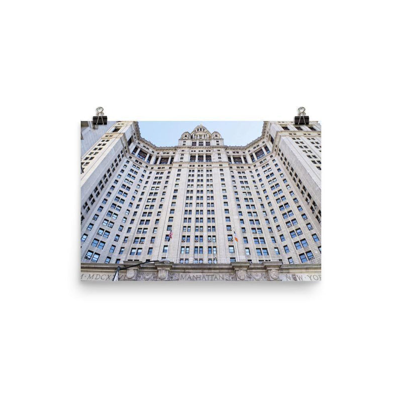 New York City Hall Building Luster Art Print - Artouchmedia