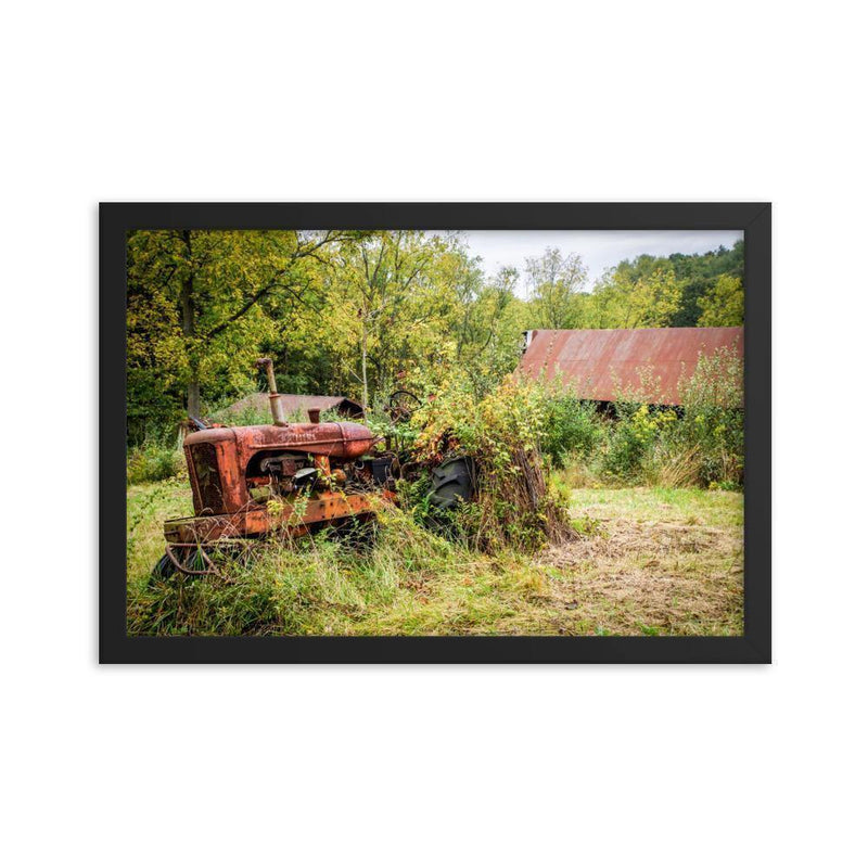 Abandoned Tractor Memory Framed Art Print - Artouchmedia