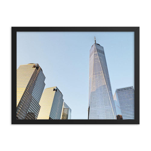 Blue Sky And The World Trade Centre Framed Art Print - Artouchmedia