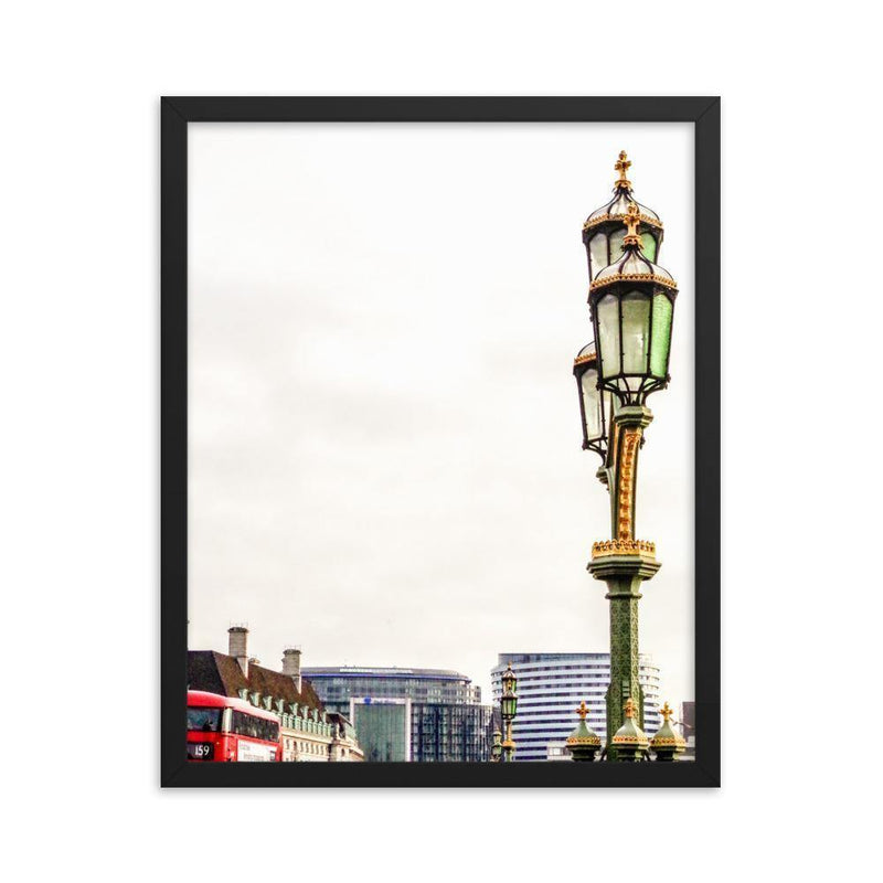 Lamp Of The Westminster Bridge Framed Art Print - Artouchmedia