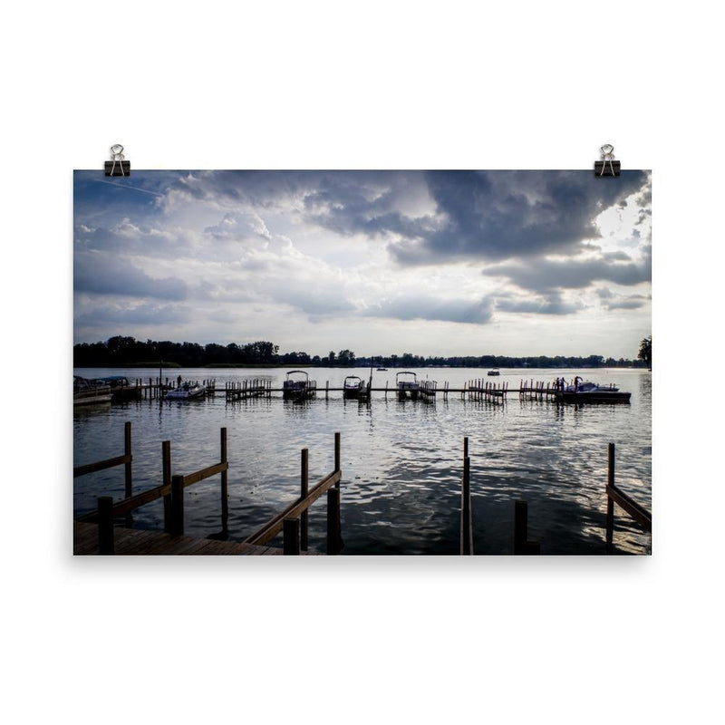 Blue Sunset In The Buckeye Docks Poster - Artouchmedia