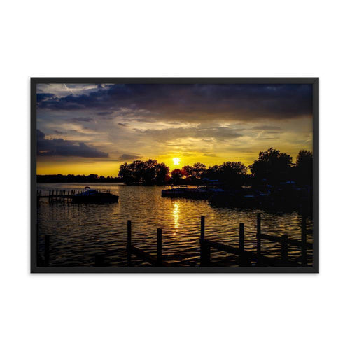 Buckeye Lake Sunset Framed Art Print - Artouchmedia