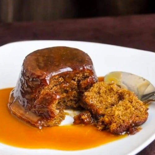 FRIDAY NIGHT DINNERS: Sticky date pudding w/ chai masala spiced toffee sauce