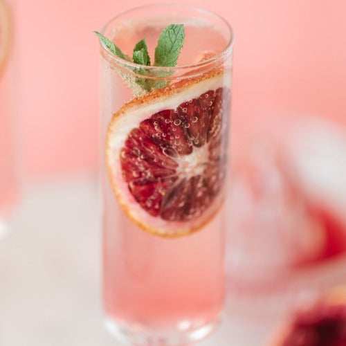 JAN COCKTAIL FOR 2- Blood orange French 75 cocktail