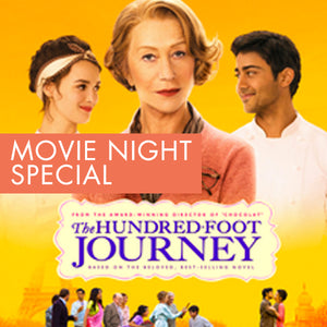 27th NOV. MOVIE NIGHT SPECIAL - MEAL FOR 2. The Hundred Foot Journey