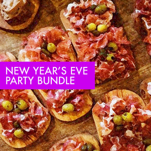 NEW YEAR'S EVE PARTY MENU. Choose how many people are in your party bubble!