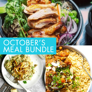 OCT BUNDLE. 3 Seasonal, savoury meals, each serving 2 people