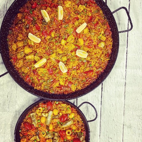 MEAL FOR 2. Monica's chicken & chorizo paella