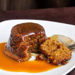 DESSERT FOR 2. Sticky toffee pudding w/ sea salt caramel sauce