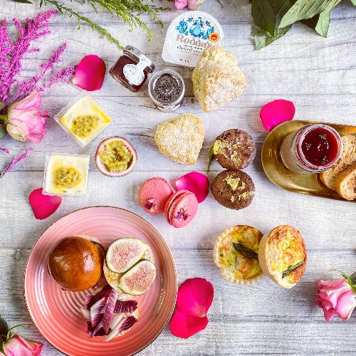 *New* Valentine's Afternoon Tea for Two - Luxurious, savoury treats, scones & patisserie