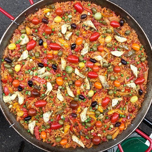 FROZEN MEAL FOR 2. Victoriously vegan paella w/ artichokes & peppers
