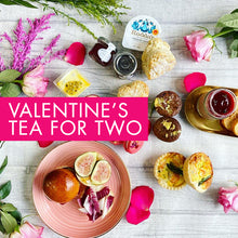Load image into Gallery viewer, *New* Valentine's Afternoon Tea for Two - Luxurious, savoury treats, scones & patisserie
