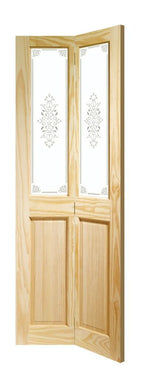 "Internal Clear Pine Victorian Bi-Fold with Campion Glass (27"") - C2B Trade Store"