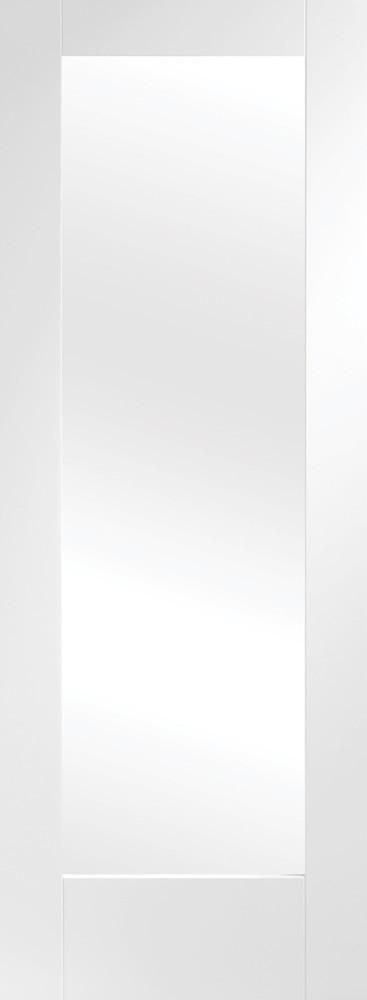 Internal White Primed Pattern 10 with Clear Glass Fire Door - C2B Trade Store