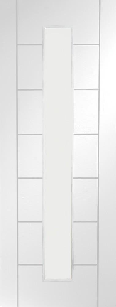 Internal White Primed Palermo 1 Light with Clear Glass - C2B Trade Store