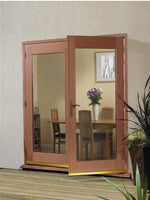 External Hardwood 5' La Porte French Door Set (Brass) - C2B Trade Store