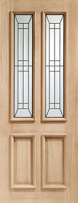 External Oak M&T Triple Glazed Malton Diamond with Black Cam - C2B Trade Store