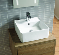 Aston Ceramic Sit-On Vanity Basin