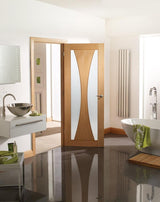 Internal Oak Verona with Clear Glass Fire Door - C2B Trade Store