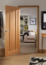 Internal Oak Worcester 3 Panel Fire Door - C2B Trade Store