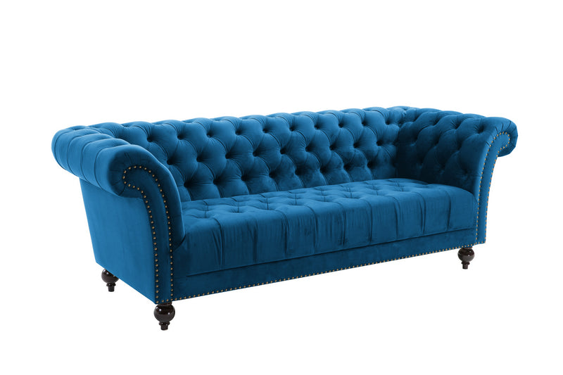 CHESTER 3 SEATER SOFA MIDNIGHT BLUE - C2B Trade Store