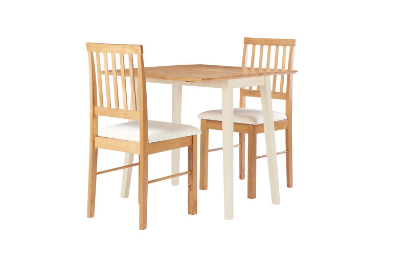 DROP LEAF DINING SET OAK COLOUR FINISH - C2B Trade Store