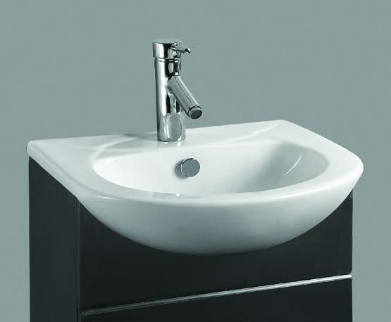 Ebony Semi-Recessed Basin