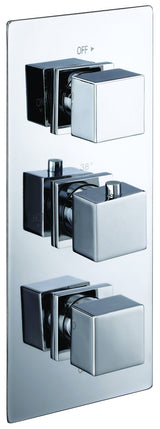 Ebony Square Thermostatic Shower Valve - C2B Trade Store
