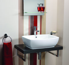 Ebony Square Ceramic Vanity Basin