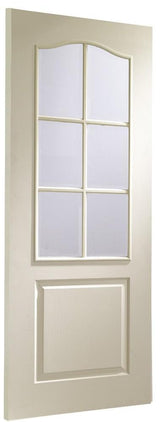 Internal White Moulded Classique 6 Light with Clear Bevelled - C2B Trade Store