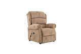 MANHATTAN FABRIC RISE & RECLINER CHAIR WHEAT - C2B Trade Store