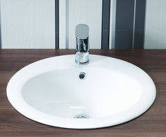 Opal Inset Ceramic Vanity Basin (1TH)